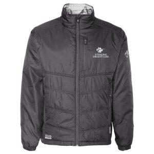 Black sterling sport-tek sport-wick stretch 1/2 zip colorblock pullover with Sterling Urgent Care logo